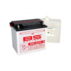 Batterie BS BATTERY B60-N24L-A haute performance livrée avec pack acide