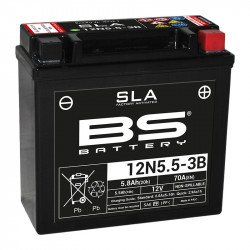Batterie BS BATTERY 12N5.5-3B SLA sans entretien activée usine
