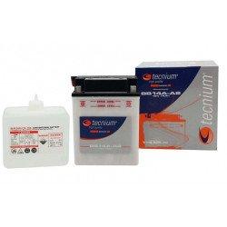 Batterie TECNIUM BB10L-B2 conventionnelle livrée avec pack acide