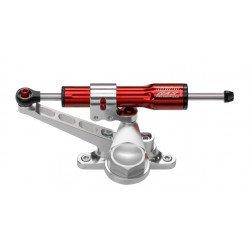 Kit amortisseur de direction BITUBO rouge position racing (tête de fourche sans feu avant) Honda CBR600RR