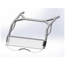 Pare-brise DIRECTION 2 bas polycarbonate CF Moto Zforce