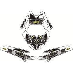 Kit déco KUTVEK Demon vert MBK Booster/Yamaha BW'S