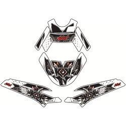 Kit déco KUTVEK Demon rouge MBK Nitro/Yamaha Aerox