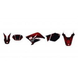 Kit déco KUTVEK Graff rouge Beta RR50