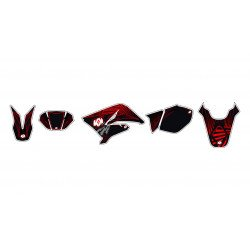 Kit déco KUTVEK Graff rouge Derbi Senda DRD X-Treme