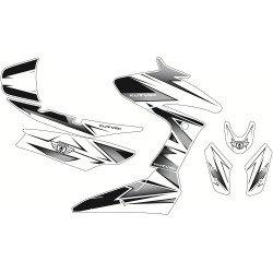 Kit déco KUTVEK Velocity blanc/noir Yamaha T-Max 530