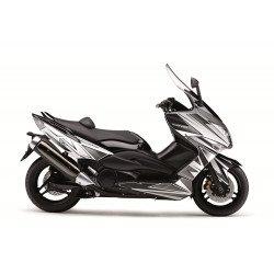 Kit déco KUTVEK Velocity blanc/noir Yamaha T-Max 500