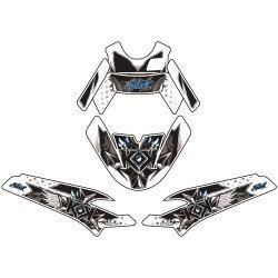 Kit déco KUTVEK Demon bleu MBK Booster/Yamaha BW'S