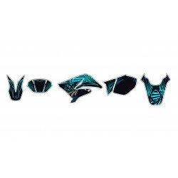 Kit déco KUTVEK Graff bleu Derbi Senda DRD X-Treme