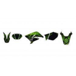 Kit déco KUTVEK Graff vert Derbi Senda DRD X-Treme