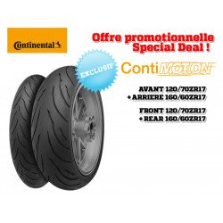 Train de pneus Sport-Touring CONTINENTAL ContiMotion (120/70 ZR 17 + 160/60 ZR 17)