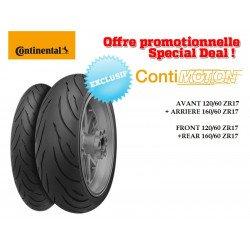 Train de pneus Sport-Touring CONTINENTAL ContiMotion (120/60 ZR 17 + 160/60 ZR 17)