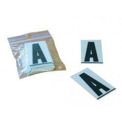 Caractères PPI ''F'' 45mm à coller pour plaques PVC 50 pièces