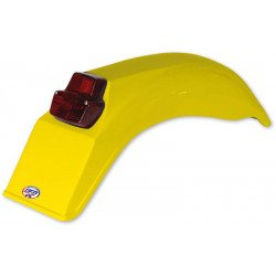 Garde-boue arrière + feu UFO Enduro jaune