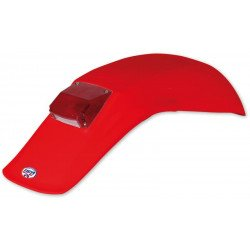 Garde-boue arrière + feu UFO Enduro rouge