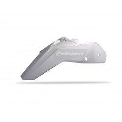 Garde-boue arrière + plaques latérales POLISPORT blanc KTM