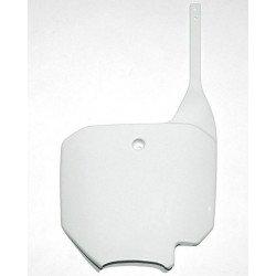 Plaque numéro frontale UFO blanc Honda CR80/CR85