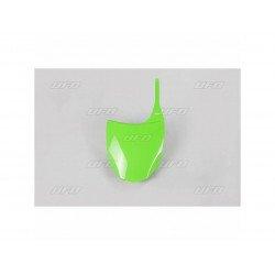 Plaque numéro frontale UFO vert Kawasaki KX250F