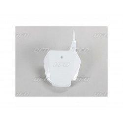 Plaque numéro frontale UFO blanc Suzuki RM85