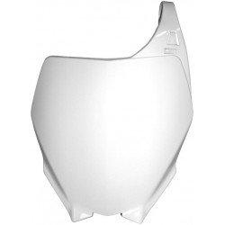 Plaque numéro frontale RACETECH blanc Yamaha