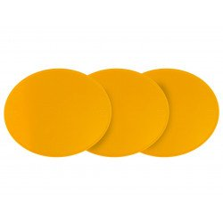 Plaque numéro frontale PRESTON PETTY ovale jaune - pack de 3