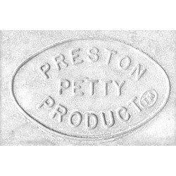 Plaque numéro frontale PRESTON PETTY ovale blanc - pack de 3