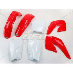 Kit plastique UFO couleur origine rouge/blanc Honda CR125R/250R