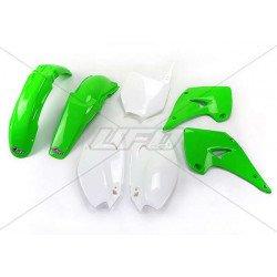 Kit plastique UFO couleur origine vert/blanc Kawasaki KX125/250
