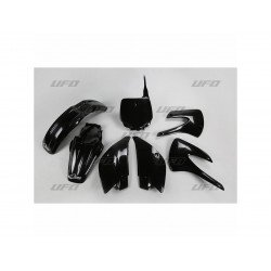 Kit plastique UFO noir Kawasaki KX85