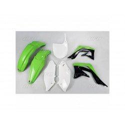 Kit plastique UFO couleur origine vert/noir/blanc Kawasaki KX450F