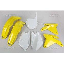 Kit plastique UFO couleur origine jaune/blanc Suzuki RM-Z450