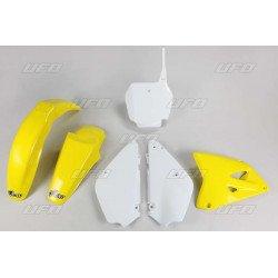 Kit plastique UFO couleur origine jaune/blanc (02-17) Suzuki RM85