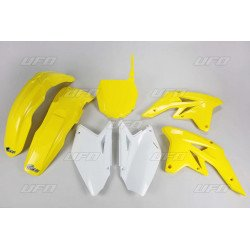 Kit plastique UFO couleur origine jaune/blanc (2009) Suzuki RM-Z250