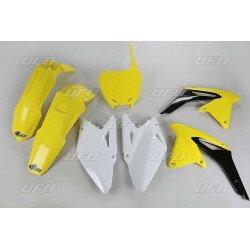 Kit plastique UFO couleur origine jaune/noir/blanc Suzuki RM-Z450