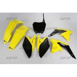 Kit plastique UFO couleur origine jaune/noir Suzuki RM-Z250
