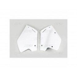 Plaques latérales UFO blanc Honda CR125R/250R