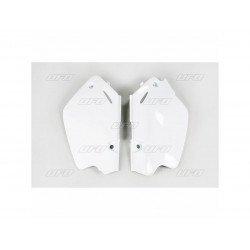 Plaques latérales UFO blanc Honda CR80R