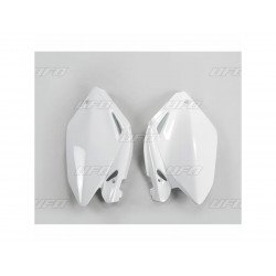 Plaques latérales UFO blanc Honda CRF250R
