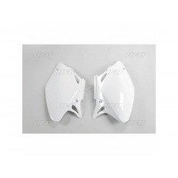 Plaques latérales UFO blanc Honda CRF450R
