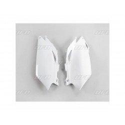 Plaques latérales UFO blanc Honda CRF250R/450R