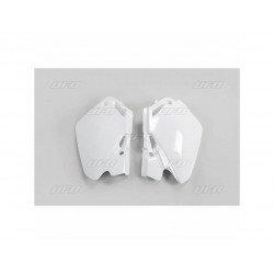 Plaques latérales UFO blanc Honda CR85R/85RB