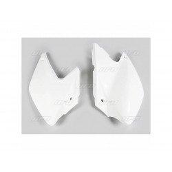 Plaques latérales UFO blanc Kawasaki KLX450R