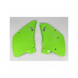 Plaques latérales UFO vert KX Kawasaki KLX450R