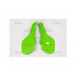 Plaques latérales UFO vert KX Kawasaki KX