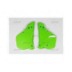 Plaques latérales UFO vert KX Kawasaki KX125/250