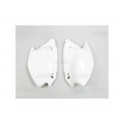 Plaques latérales UFO blanc Kawasaki KX125/250