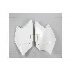 Plaques latérales UFO blanc Kawasaki KX250F
