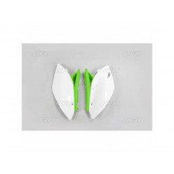 Plaques latérales UFO blanc/vert Kawasaki KX450F