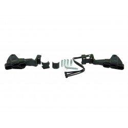 Kit de montage RACETECH protège-main HP1/HP2 noir