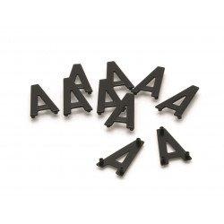 Caractères PPI ''4'' 45mm à clipser pour plaques aluminium 10 pièces
